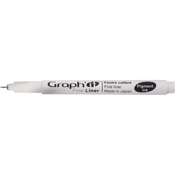 GRAPHIT 6er Set Fineliner schwarz  (005 0.1 0.2 0.3 0.5 0.8)
