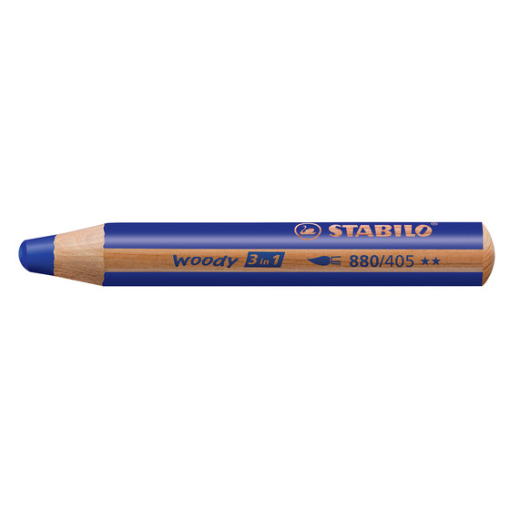 Buntstift STABILO woody 3 in 1 -  ultramarinblau