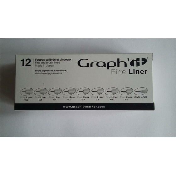 GRAPH`IT Brush liner - Black Pigmentliner Brush