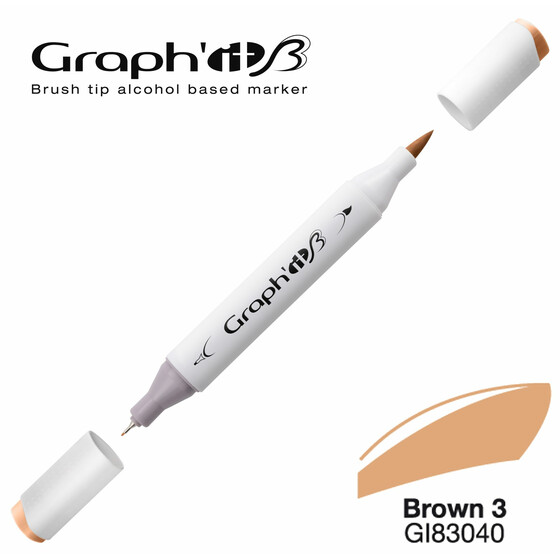 Graphit Pinsel-Marker 3040 - Brown 3 - New