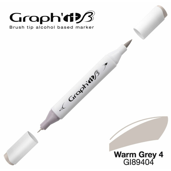 GRAPHIT Marker BRUSH & EXTRA FINE  Farbe: Warm Grey 4 (9404)