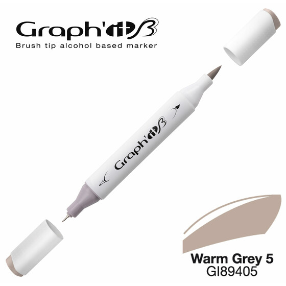 GRAPHIT Marker BRUSH & EXTRA FINE  Farbe: Warm Grey 5 (9405)