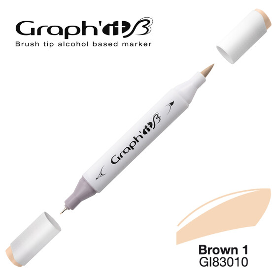 GRAPHIT Marker BRUSH & EXTRA FINE  Farbe: Basic Brown 1 (3010)
