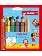 Aquarellfarbstift woody 6St