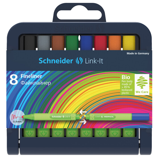 SCHNEIDER K-Box 8x Fineliner Link-It 0,4