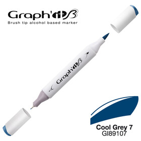 Graph'it Pinsel-Marker 9107 - Cool Grey 7 - New