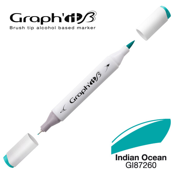 GRAPHIT Marker BRUSH & EXTRA FINE  Farbe: Indian Ocean (7260)