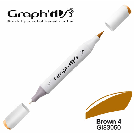 GRAPHIT Marker BRUSH & EXTRA FINE  Farbe: Basic Brown 4 (3050)