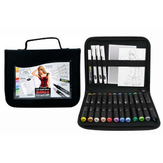 Manga GRAPH-IT Kit: 12 Markers - 3 Liners - 1 Shake Marker - 1 A4 pad -