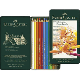 Farbstift Polychromos 12er Metalletui