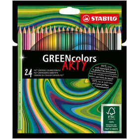 Buntstift STABILO GREENcolors 24 ET ARTY